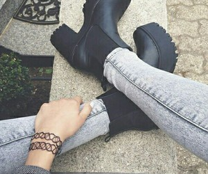 shoes, black, and boots image