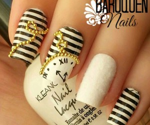nails, clock, and white image