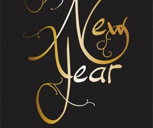 new year, 2016, and gold image