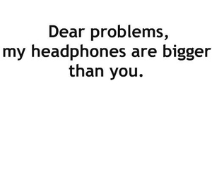problem, headphones, and music image