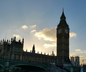 Big Ben, sunset, and buildings image