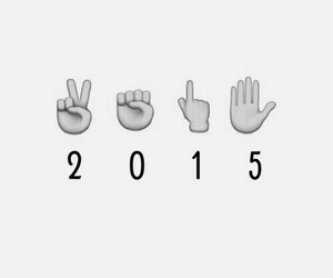 2015, new year, and emoji image