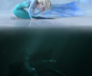 jelsa, elsa, and disney image