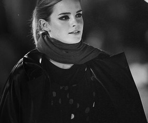 actress, black and wite, and emma watson image