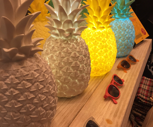 colors, light, and pineapple image