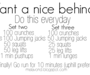 workout, butt, and fit image