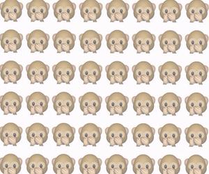 monkey, wallpaper, and emoji image