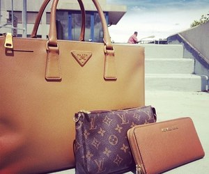 bag, Prada, and Louis Vuitton image