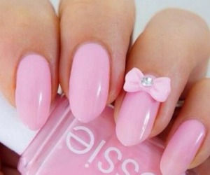 nail art, essie, and pink image