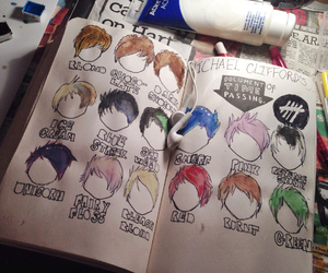 hair, 5sos, and michael clifford image