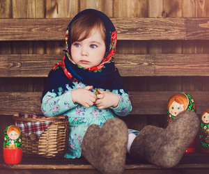 baby girl, bear, and cold image
