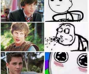 logan, lerman, and 😏 image