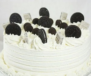 cake, oreo, and food image