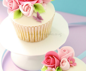birthday, butterflies, and cupcakes image