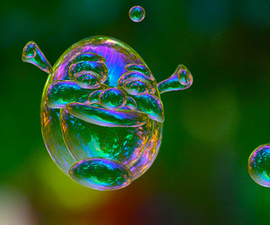 shrek, bubbles, and cool image