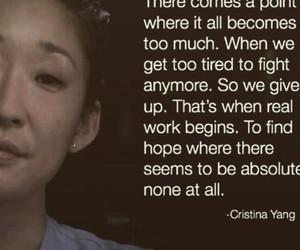 cristina yang, quotes, and sad image