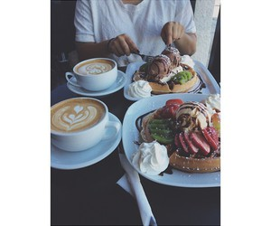 best friend, food porn, and latte image