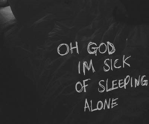 alone, bed, and sick image