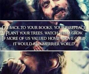 the hobbit, thorin, and bilbo image