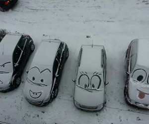 car, funny, and winter image