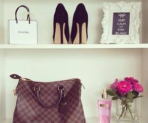 bag, flowers, and girl image