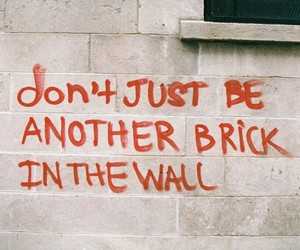 quotes, wall, and brick image