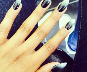 nails, ombre, and stiletto nail image