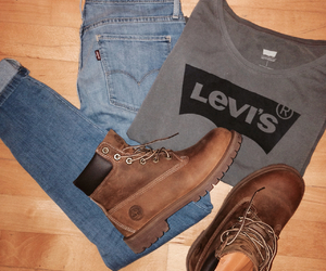 fashion, jeans, and levis image