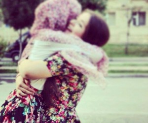 hug, friends, and muslima image