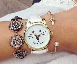cat, fashion, and gold image