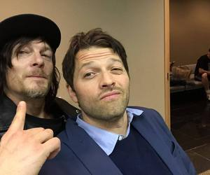 misha collins, supernatural, and norman reedus image