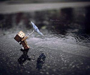 rain, umbrella, and danbo image
