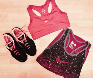 nike, pink, and sport image