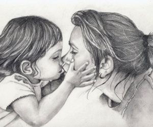 child, mom, and mother's love image
