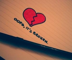 broken, heart, and oops image