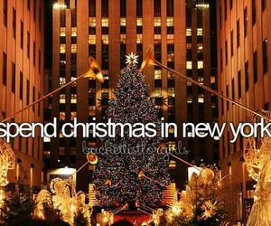 new york and christmas image