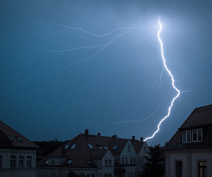 lightning, blue, and grunge image