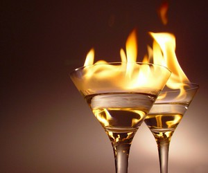 fire, alcohol, and drink image