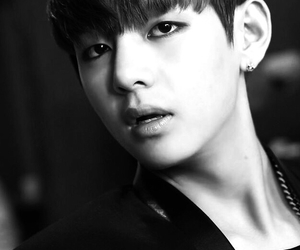 asian, black and white, and korean image