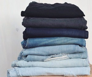 blue, jeans, and cute image