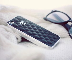 chanel, iphone, and glasses image
