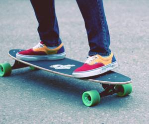 boy, vans, and skate image