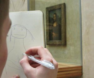art, mona lisa, and funny image
