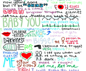 fall out boy, miss missing you, and Lyrics image