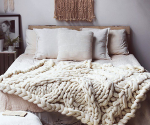 bedroom, white, and comfort image