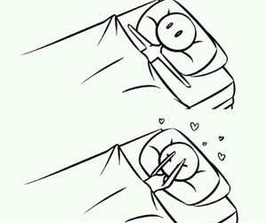 love, bed, and in love image