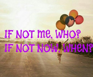 amazing quote, balloons, and girl running image