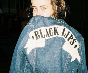 girl, grunge, and black lips image
