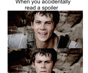 spoiler, dylan o'brien, and funny image