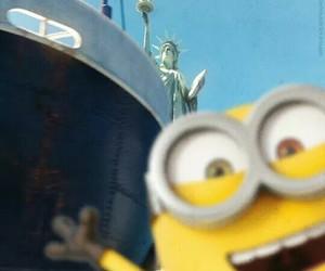 minions, bob, and new york image